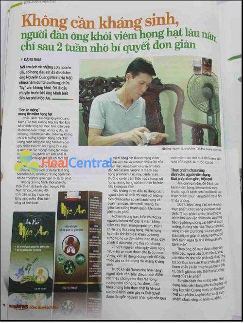 Bác Quang Minh chia sẻ về sản phẩm an phế mộc an