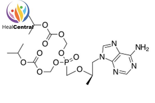 Cấu trúc hóa học của tenofovir disoproxil