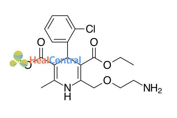 Công thức hóa học Amlodipine