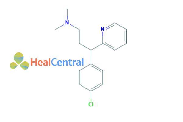 Công thức hóa học của Chlorpheniramin