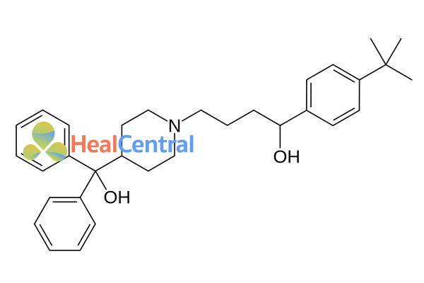 Công thức hóa học terfenadine