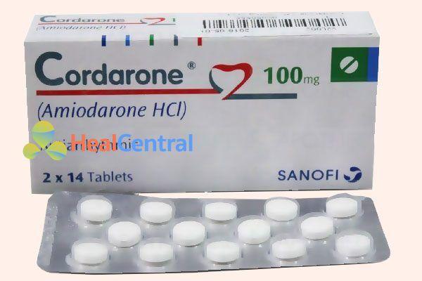 Hộp và vỉ thuốc Cordarone