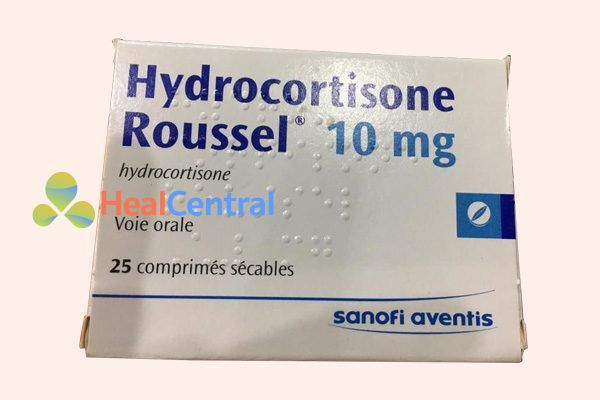 Vỏ hộp thuốc Hydrocortisone roussel