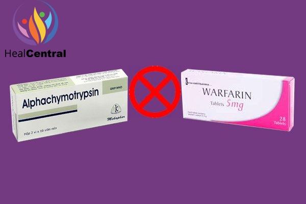 Tương tác thuốc Alphachymotrypsin và wafarin