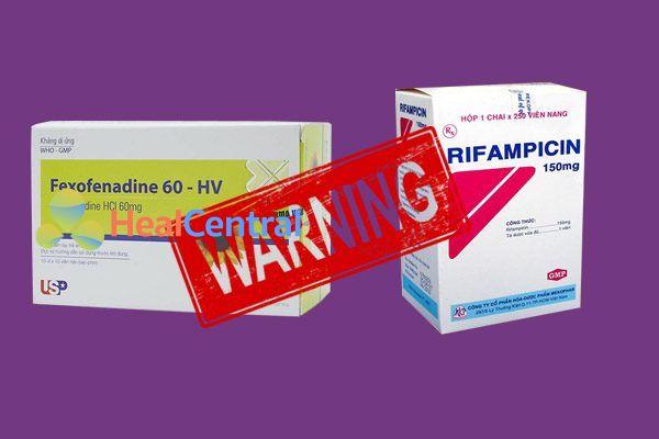 Tương tác thuốc fexofenadine và rifampicin