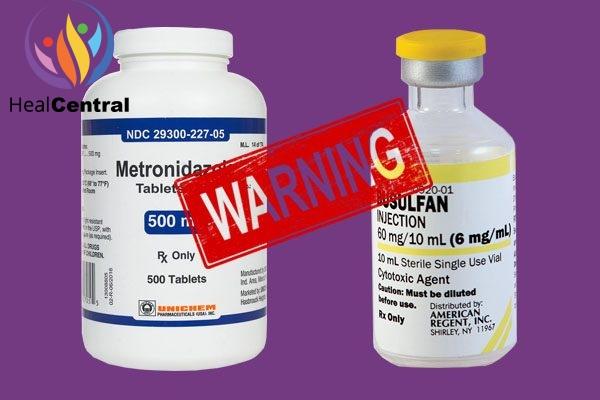 Tương tác thuốc Metrondiazole với Busulfan