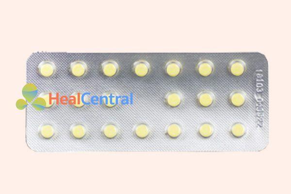 Vỉ thuốc Prednisolon 5mg
