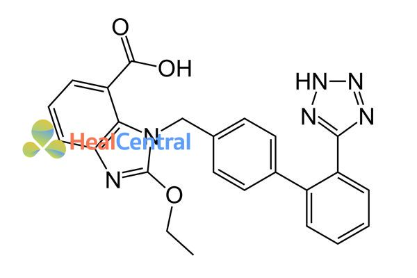 Cấu trúc hóa học của candesartan