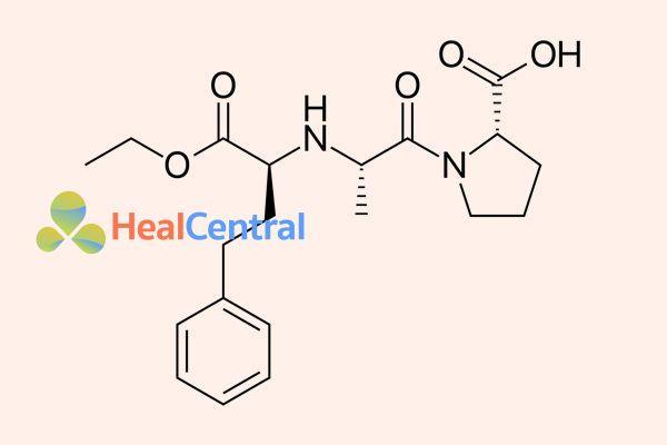 Cấu trúc hóa học Enalapril