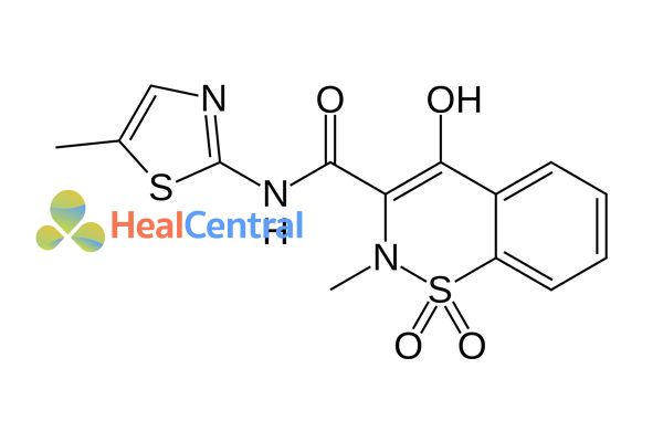 Cấu trúc hóa học của meloxicam.
