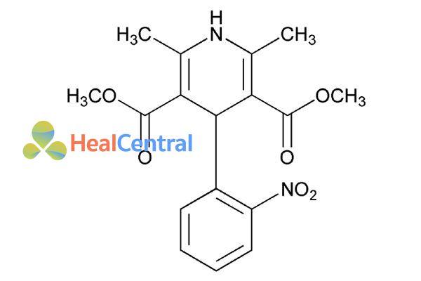 Cấu trúc hóa học của nifedipine.