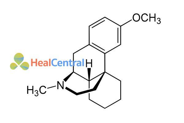 Cấu trúc hóa học dextromethorphan