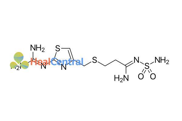 Công thức hóa học của Famotidine