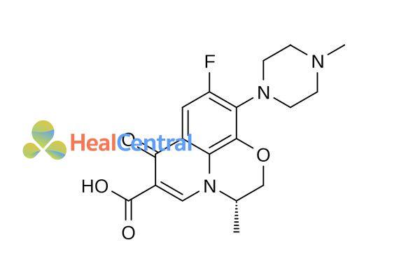 Cấu trúc hóa học của levofloxacin.