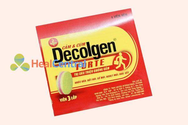 Vỉ thuốc Decolgen