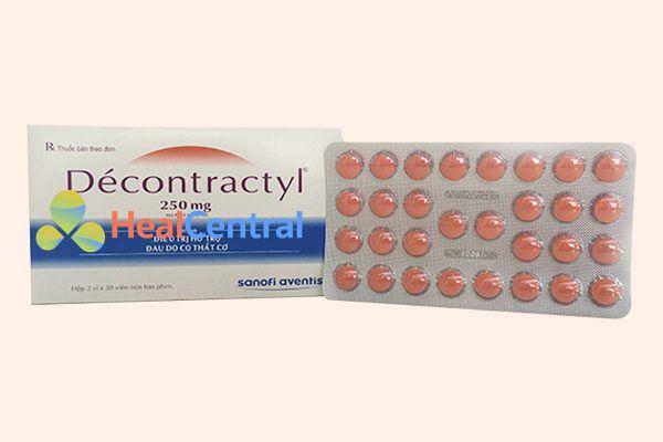 Hộp và vỉ thuốc Decontractyl