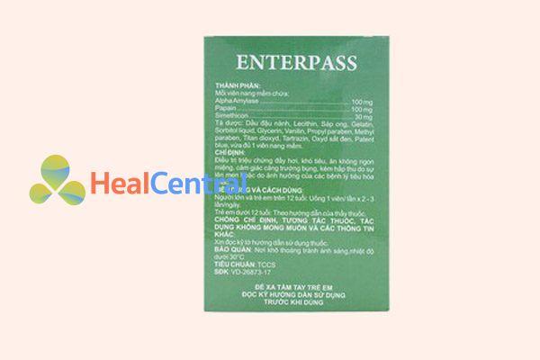 Thành phần thuốc Enterpass
