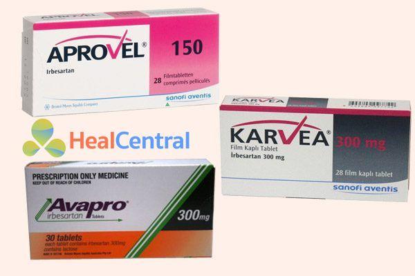 Biệt dược của thuốc irbesartan