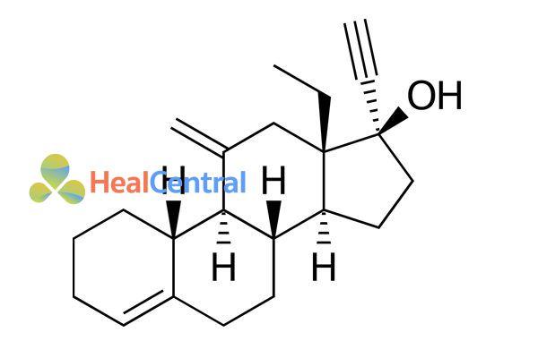 Cấu trúc hóa học của Desogestrel