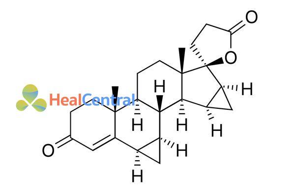 Cấu trúc hóa học của drospirenone
