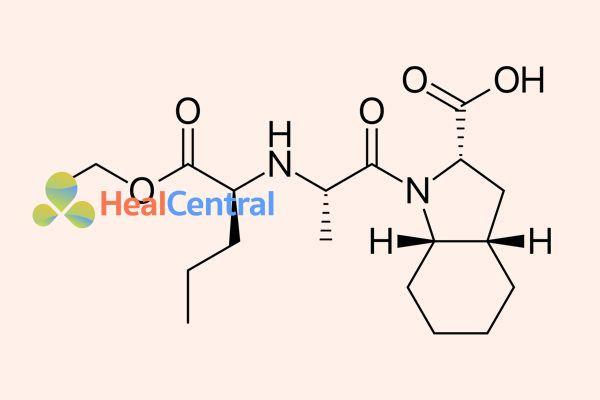 Cấu trúc hóa học của perindopril.