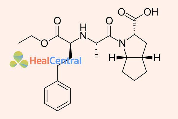 Cấu trúc hóa học của ramipril.