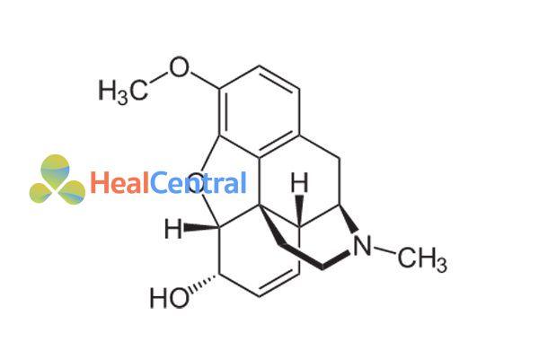Cấu trúc hóa học codeine
