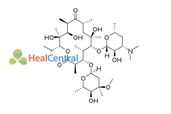 Công thức hóa học erythromycin