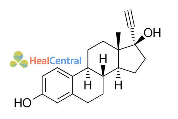 Cấu trúc hóa học của ethinylestradiol