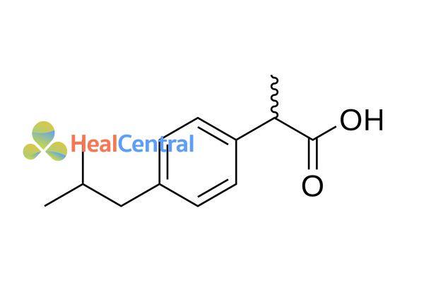 Công thức hóa học Ibuprofen