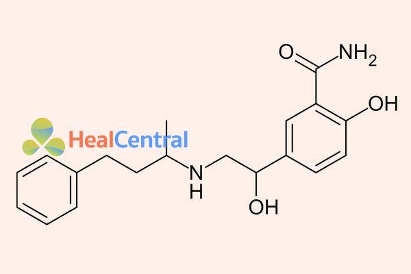Công thức hóa học labetalol