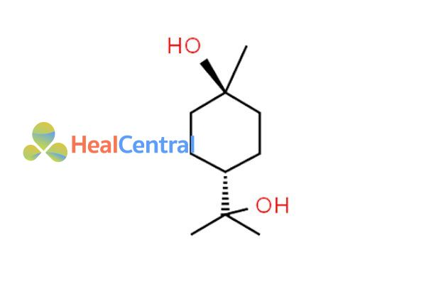 Công thức hóa học terpin