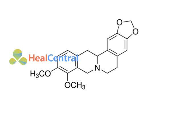 Công thức hóa học tetrahydroberberine