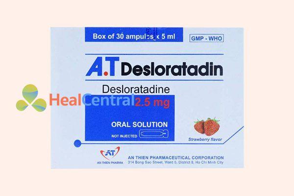 Hộp thuốc Desloratadin