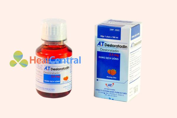 Hộp và lọ thuốc Desloratadin
