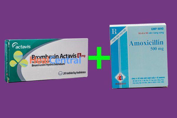 Kết hợp thuốc Bromhexin và Amoxicillin