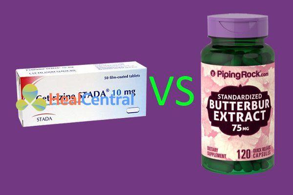 So sánh butterbur và cetirizine