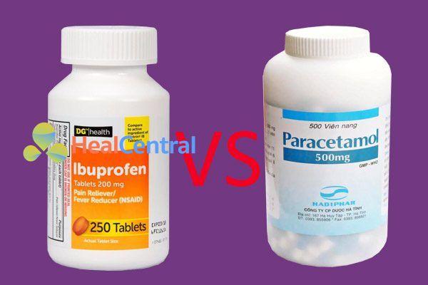 So sánh ibuprofen và paracetamol