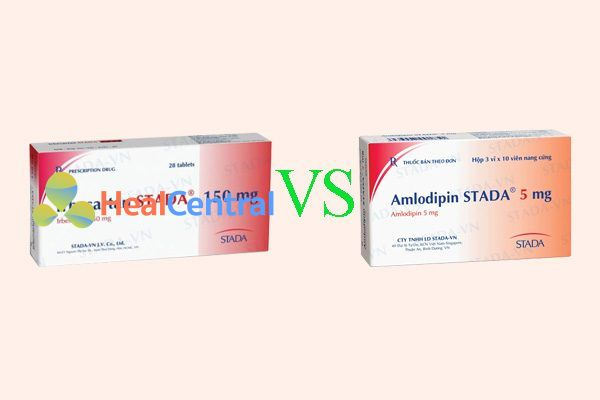 So sánh irbesartan 150 mg với amlodipine 5 mg