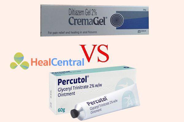 So sánh kem diltiazem và glyceryltrinitrate
