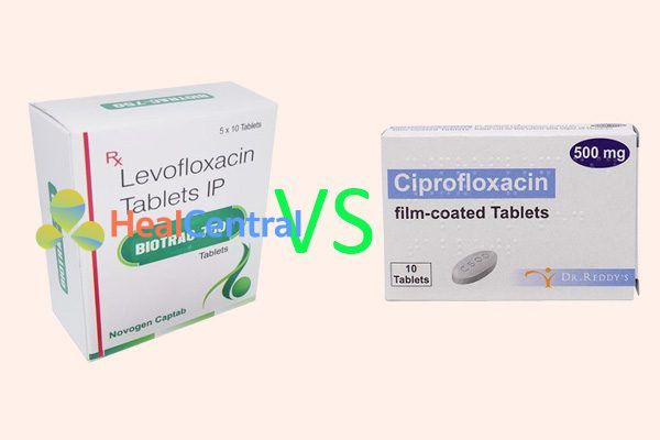 So sánh levofloxacin và ciprofloxacin