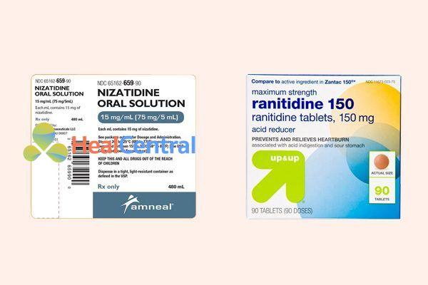 So sánh Nizatidine và Ranitidine