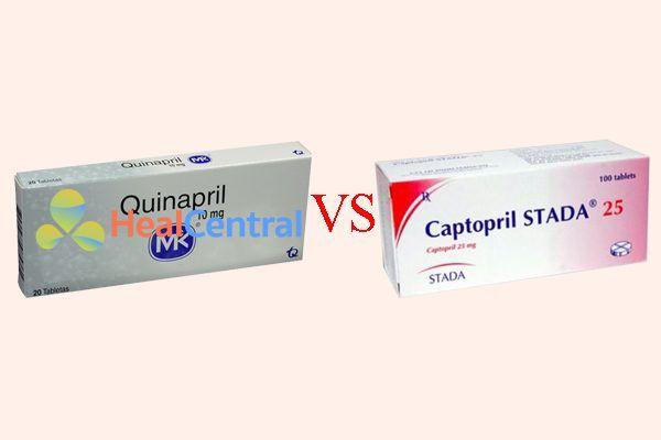 So sánh quinapril và captopril