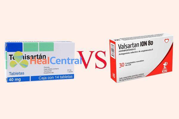 So sánh telmisartan và valsartan