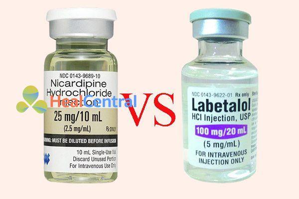 So sánh thuốc nicardipine và labetalol