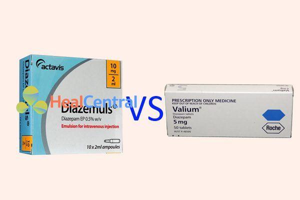So sánh Valium và Diazepam