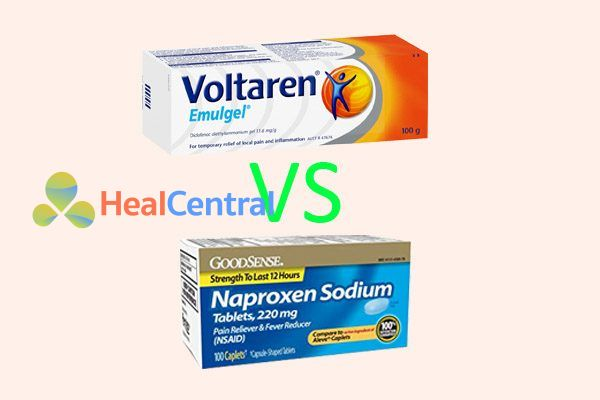 So sánh Voltaren và Naproxen