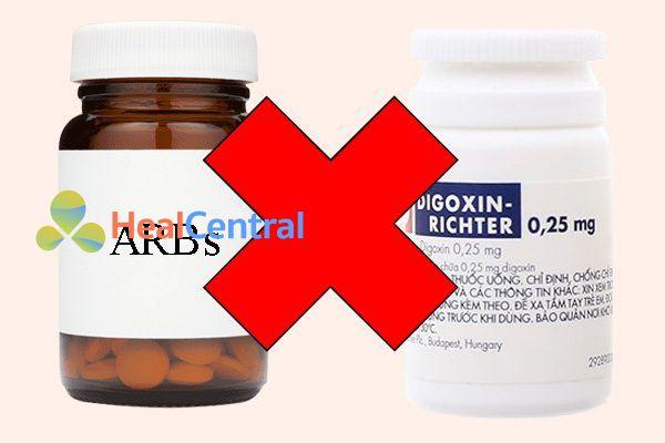Tương tác thuốc ARBs và digoxin