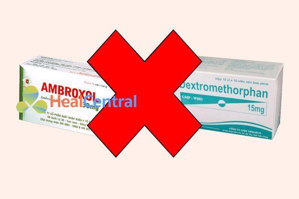 Tương tác thuốc ambroxol và dextromethorphan (Thuốc giảm ho)