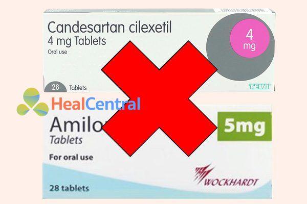Tương tác thuốc candesartan và amiloride
